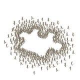 källa för folkmassagrupppussel Arkivbilder