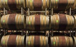 Källare av den Ceretto vinodlingen, Piedmont arkivfoto
