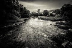 Källfloder av floden Gacka Royaltyfri Fotografi