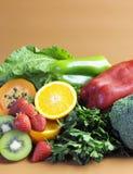 Källor av vitamin C för sund kondition bantar - lodlinje. Arkivbild