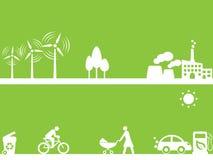 källor för clean energi royaltyfri illustrationer