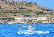 Källor Kallithea (Terme Kalithea) Rhodes ö Grekland Arkivfoton