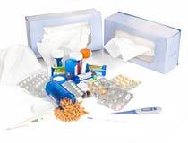 Kälte-und Grippe-Jahreszeit Stockbild