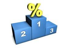 kämpa för procent Arkivbild