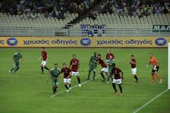 kämpar för europeisk fotbollligauefa Royaltyfria Bilder