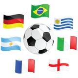 kämpar för fotboll vektor illustrationer