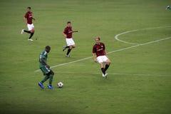 kämpar för fotbollligauefa Royaltyfri Foto
