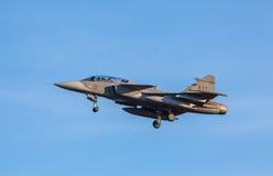 Kämpar för JAS 39 Gripen från det svenska flygvapnet Royaltyfria Bilder