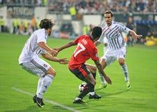 kämpar för ligamatchfotboll Royaltyfria Foton