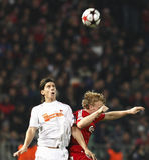 kämpar för uefa för den debrecen ligaliverpool matchen vs royaltyfria bilder