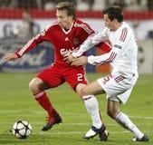 kämpar för uefa för den debrecen ligaliverpool matchen vs royaltyfri bild