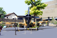 Kämpenivå för amerikan A1 Skyraider Arkivfoton