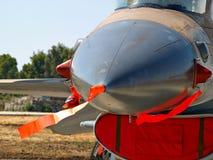 Kämpenivå för stråle F-16 Fotografering för Bildbyråer