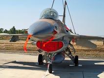 Kämpenivå för stråle F-16 Royaltyfria Foton