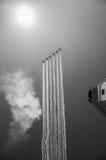 Kämpeskvadronen ståtar på i Moskva Fotografering för Bildbyråer