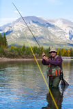 Kämpfen eines Fisches Lizenzfreies Stockfoto