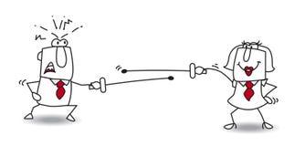 Kämpfen Sie ein Duell vektor abbildung