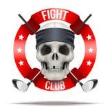 Kämpfen Sie Verein- oder Teamausweise und beschriftet Logo Lizenzfreie Stockfotos