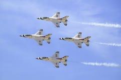 Kämpfende Falcons der US-Luftwaffe-F-16C, Lizenzfreie Stockbilder