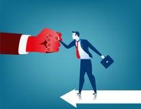 Kämpfende Hindernisse des Geschäftsmannes Lizenzfreies Stockfoto