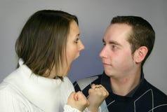 Kämpfende Paare Stockfotografie