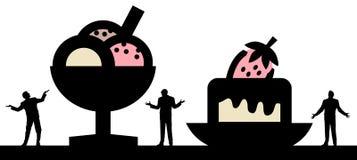 Kämpfende Zuckersucht lizenzfreie abbildung