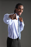 Kämpfender Erfolg des Afroamerikanergeschäftsmannes Lizenzfreie Stockfotografie