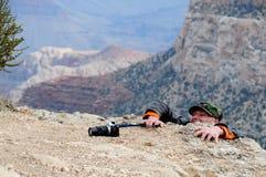 Kämpfender Fotograf Stockbild