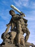Kämpfender Titan am Gatter von Prag ziehen sich zurück Lizenzfreies Stockfoto