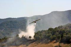 Kämpfender Waldbrand Stockfotos