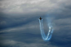 Kämpfendes Falke F16 airshow Stockbilder