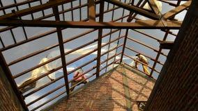 Kämpfendes Gebäudehaus Lizenzfreies Stockfoto
