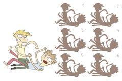 Kämpfendes Schatten-Sichtbarmachungs-Spiel Stockbilder