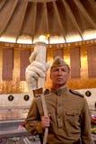 Kämpfer der roten Armee in Form von Zeiten des Zweiten Weltkrieges in lizenzfreie stockfotografie