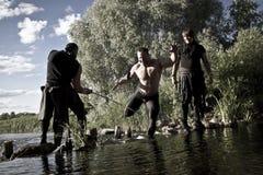 Kämpfer mit Waffen Lizenzfreie Stockbilder