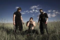 Kämpfer mit Waffen Lizenzfreies Stockfoto