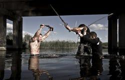 Kämpfer mit Waffen Lizenzfreie Stockfotos