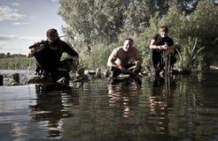 Kämpfer mit Waffen Lizenzfreie Stockfotografie