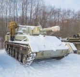 Kämpferlader klärt Schneebehälter su-76 Stockbilder