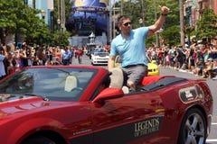 Kändisgästen Ray Park under Star Wars tillbringar veckoslutet 2014 royaltyfri fotografi