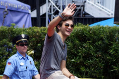 Kändisgästen Taylor Gray under Star Wars tillbringar veckoslutet 2014 Arkivbilder