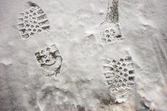 Kängaspår Royaltyfri Fotografi