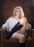 kängor chair sexigt Royaltyfri Foto