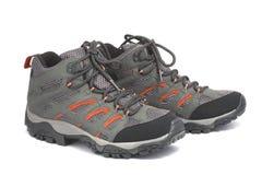 kängor isolerade skor som trekking Arkivfoto