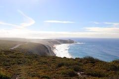 Känguruö, kusten av Flindersjaktnationalparken, över på den västra sidan fotografering för bildbyråer