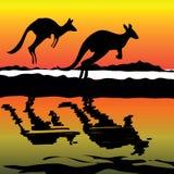 Känguru-Australien-Ikone Stockfotografie