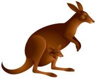 Känguru mit dem Schätzchen innen   Lizenzfreie Abbildung