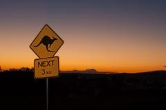 Känguru-Zeichen Australien Stockbild