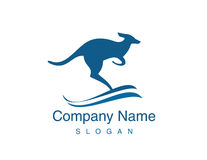 Kängurulogo Stock Abbildung