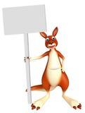 Kängurutecknad filmtecken med brädet Fotografering för Bildbyråer